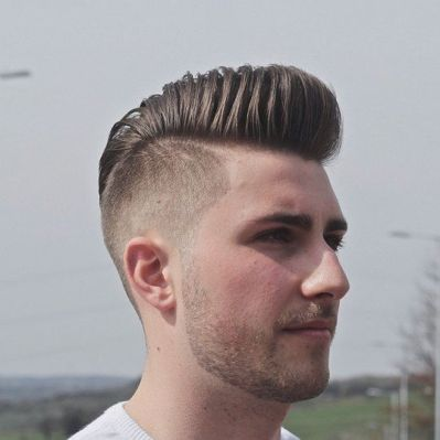 Men classy modern pompadour hairstyle 29