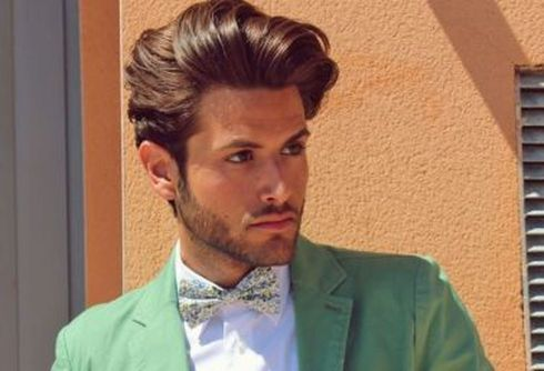 Men classy modern pompadour hairstyle 49