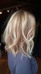 Stylish blonde lobs haircut ideas 4