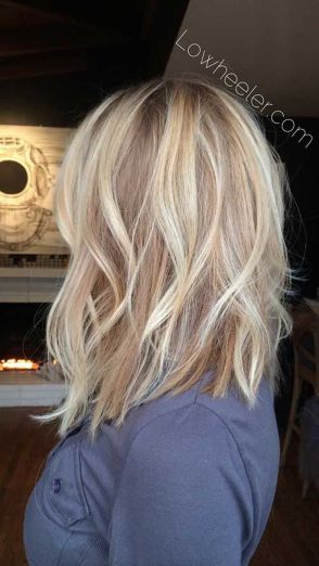 Stylish blonde lobs haircut ideas 42