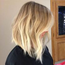 Stylish blonde lobs haircut ideas 54