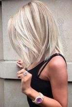 Stylish blonde lobs haircut ideas 69
