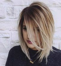 Stylish blonde lobs haircut ideas 70