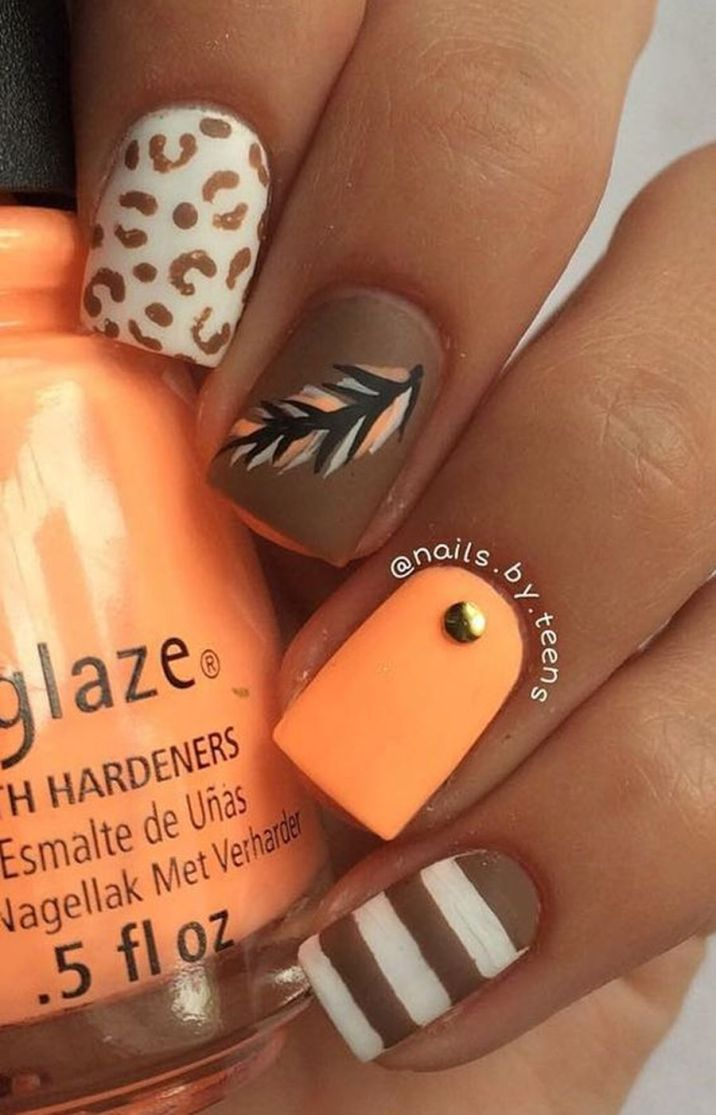 Swag thanksgiving nails art 37