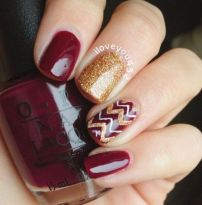 Swag thanksgiving nails art 39