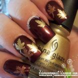 Swag thanksgiving nails art 8