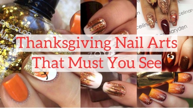 Thanksgiving nail arts