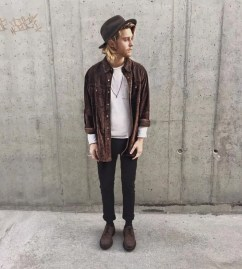 Casual indie mens fashion outfits style 61