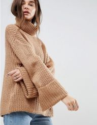 Fashionable oversized sweater for winter outfit 23