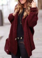 Fashionable oversized sweater for winter outfit 43