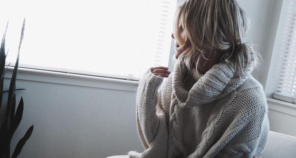 Oversized sweater for winter outfit