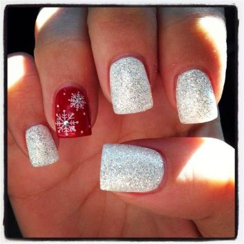 Pretty winter nails art design inspirations 37