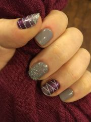 pretty winter nails art design