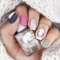 Pretty winter nails art design inspirations 71