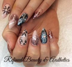 Sweet acrylic nails ideas for winter 111