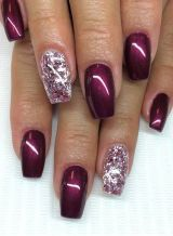 Sweet acrylic nails ideas for winter 36
