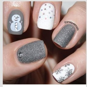130 fresh ideas to make glitter acrylic nails for this winter sweet acrylic nails ideas for winter 39 prinsesfo Images