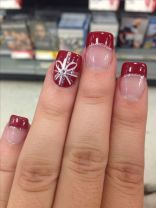 Sweet acrylic nails ideas for winter 54