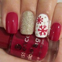 Sweet acrylic nails ideas for winter 65