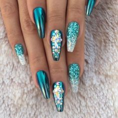 Sweet acrylic nails ideas for winter 75