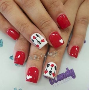 Lovely valentine nails design ideas 12