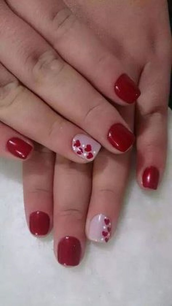 Lovely Valentine Nails Design Ideas 15 - Fashion