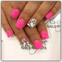 Lovely valentine nails design ideas 26
