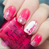 Lovely valentine nails design ideas 3