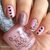 Lovely valentine nails design ideas 47