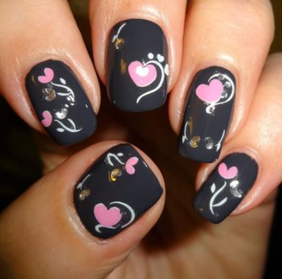 Lovely valentine nails design ideas 59