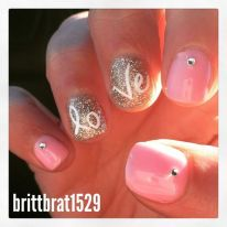 Lovely valentine nails design ideas 63