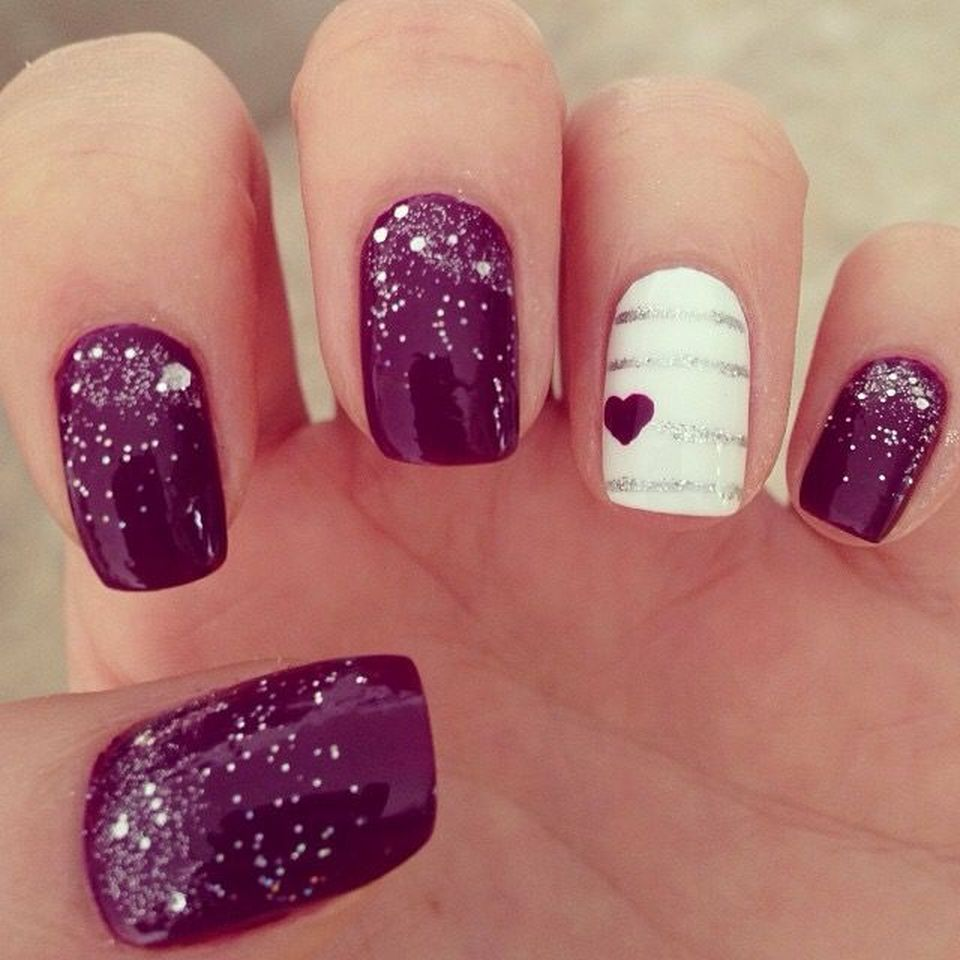 Lovely valentine nails design ideas 67