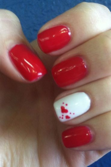 Lovely valentine nails design ideas 86