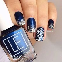 Sweet Blue Nails Ideas that Make Cool and Calm Appearance 12