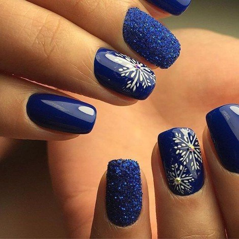 Sweet Blue Nails Ideas that Make Cool and Calm Appearance 24