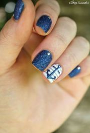 Sweet Blue Nails Ideas that Make Cool and Calm Appearance 32