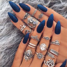 Sweet Blue Nails Ideas that Make Cool and Calm Appearance 45