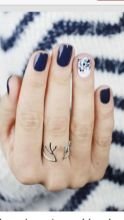 Sweet Blue Nails Ideas that Make Cool and Calm Appearance 49