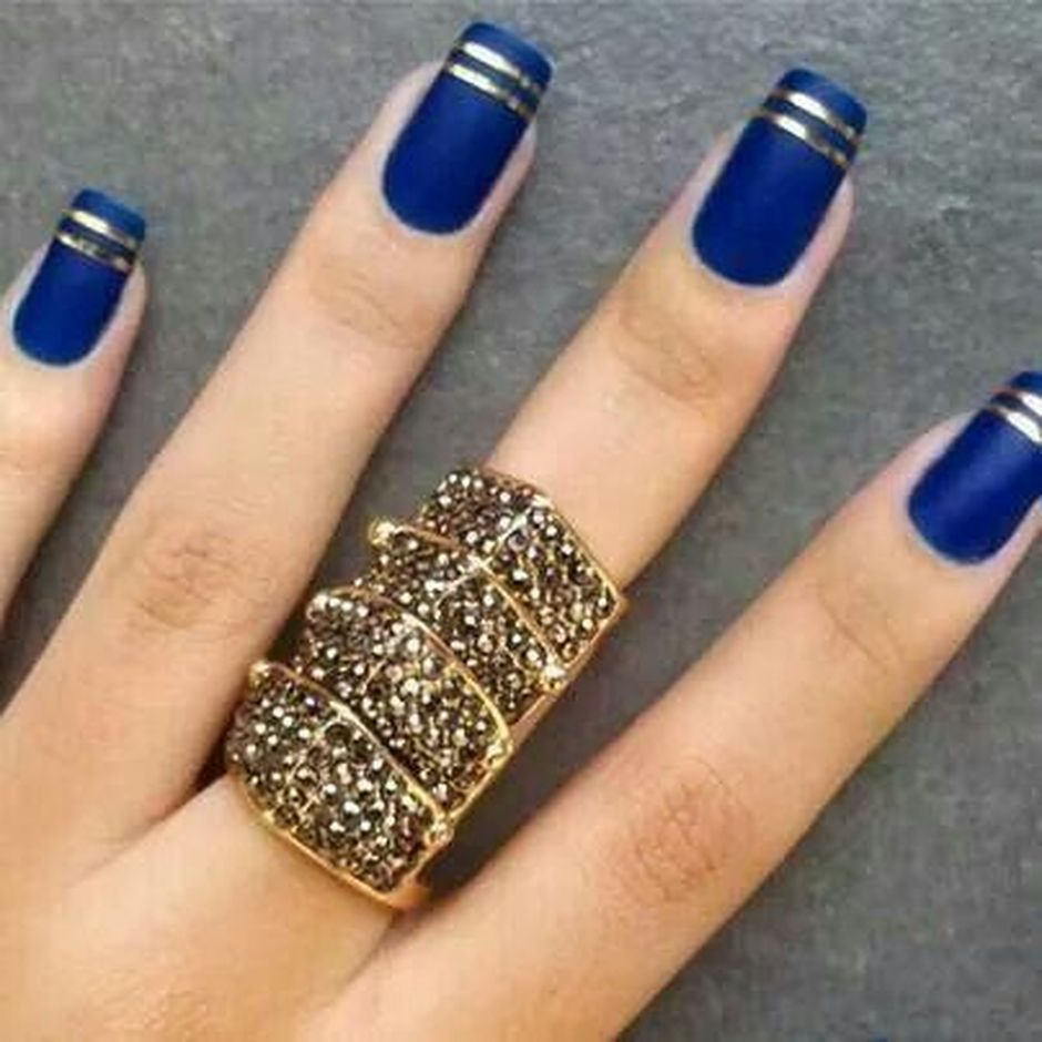 Sweet Blue Nails Ideas that Make Cool and Calm Appearance 5
