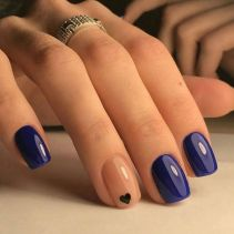 Sweet Blue Nails Ideas that Make Cool and Calm Appearance 57
