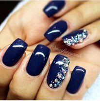 Sweet Blue Nails Ideas that Make Cool and Calm Appearance 62