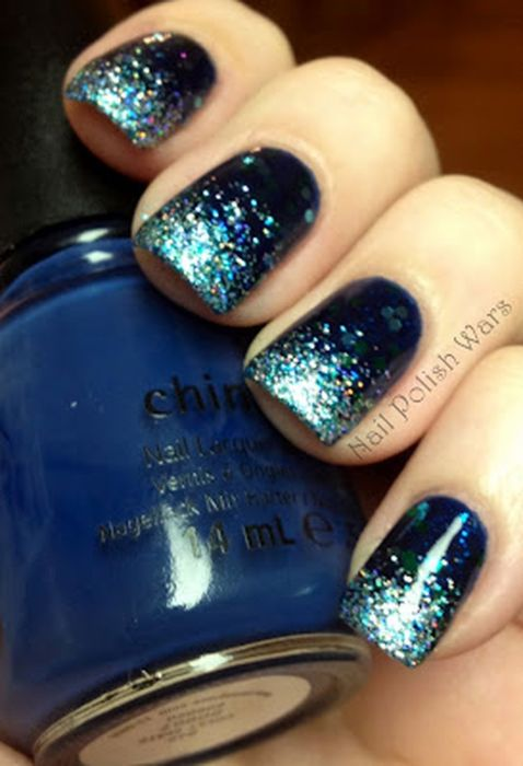 Sweet Blue Nails Ideas that Make Cool and Calm Appearance 76