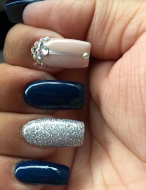 Sweet Blue Nails Ideas that Make Cool and Calm Appearance 87