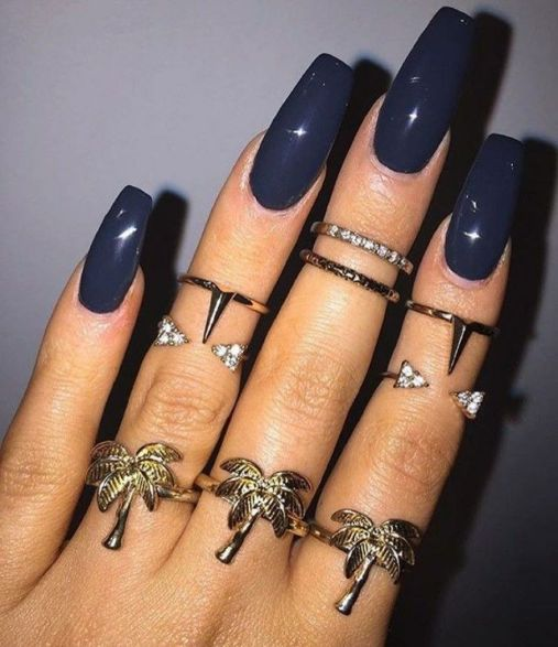 Sweet Blue Nails Ideas that Make Cool and Calm Appearance 88