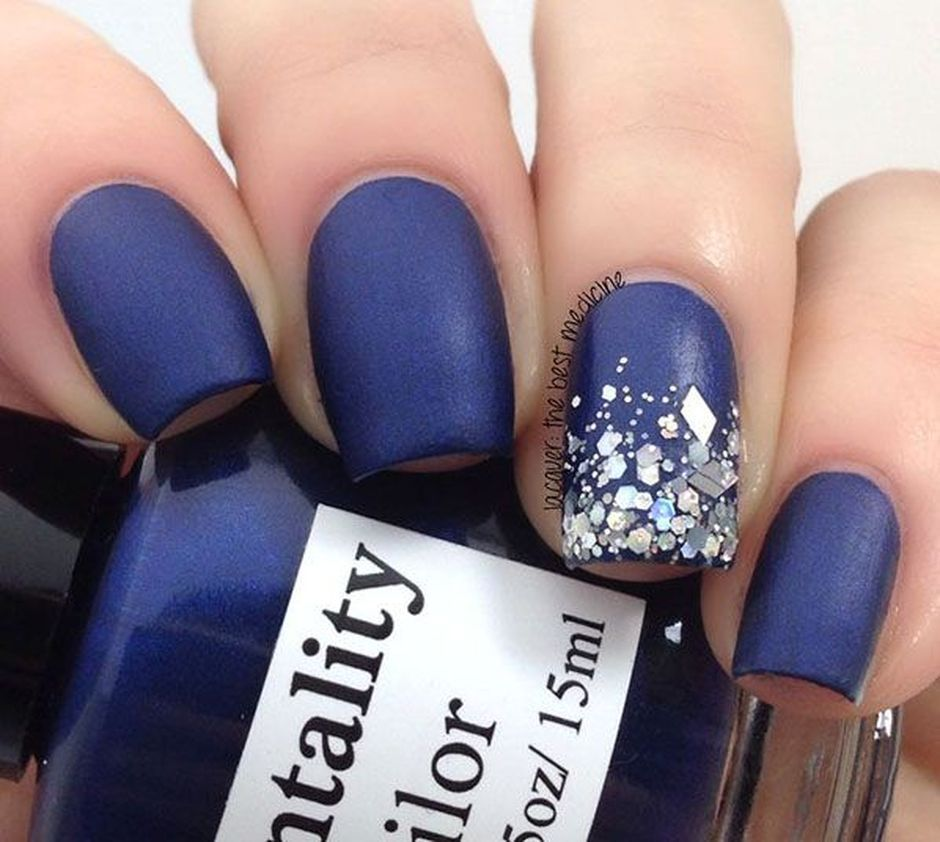 Sweet Blue Nails Ideas that Make Cool and Calm Appearance 91