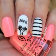 Best Colorful and Stylish Summer Nails Ideas 50