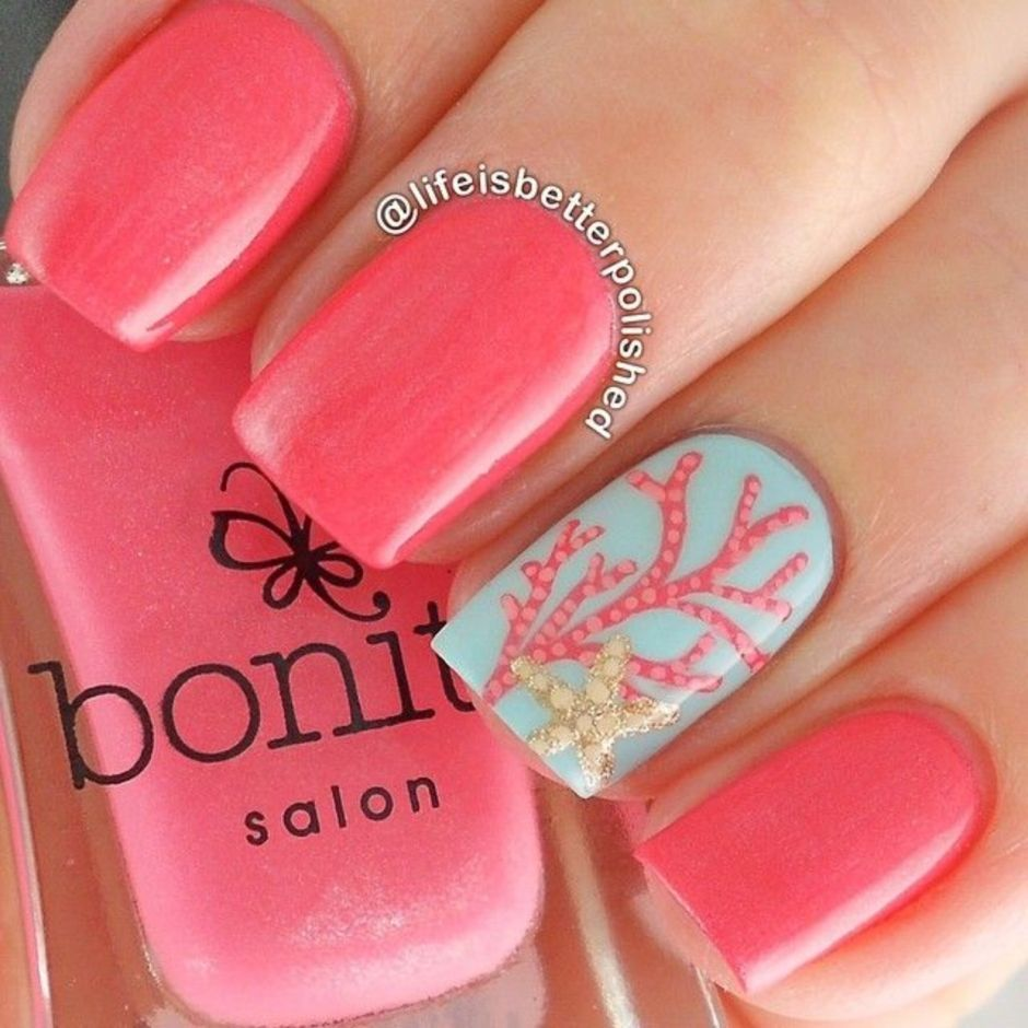 Best Colorful and Stylish Summer Nails Ideas 65