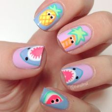 Best Colorful and Stylish Summer Nails Ideas 72