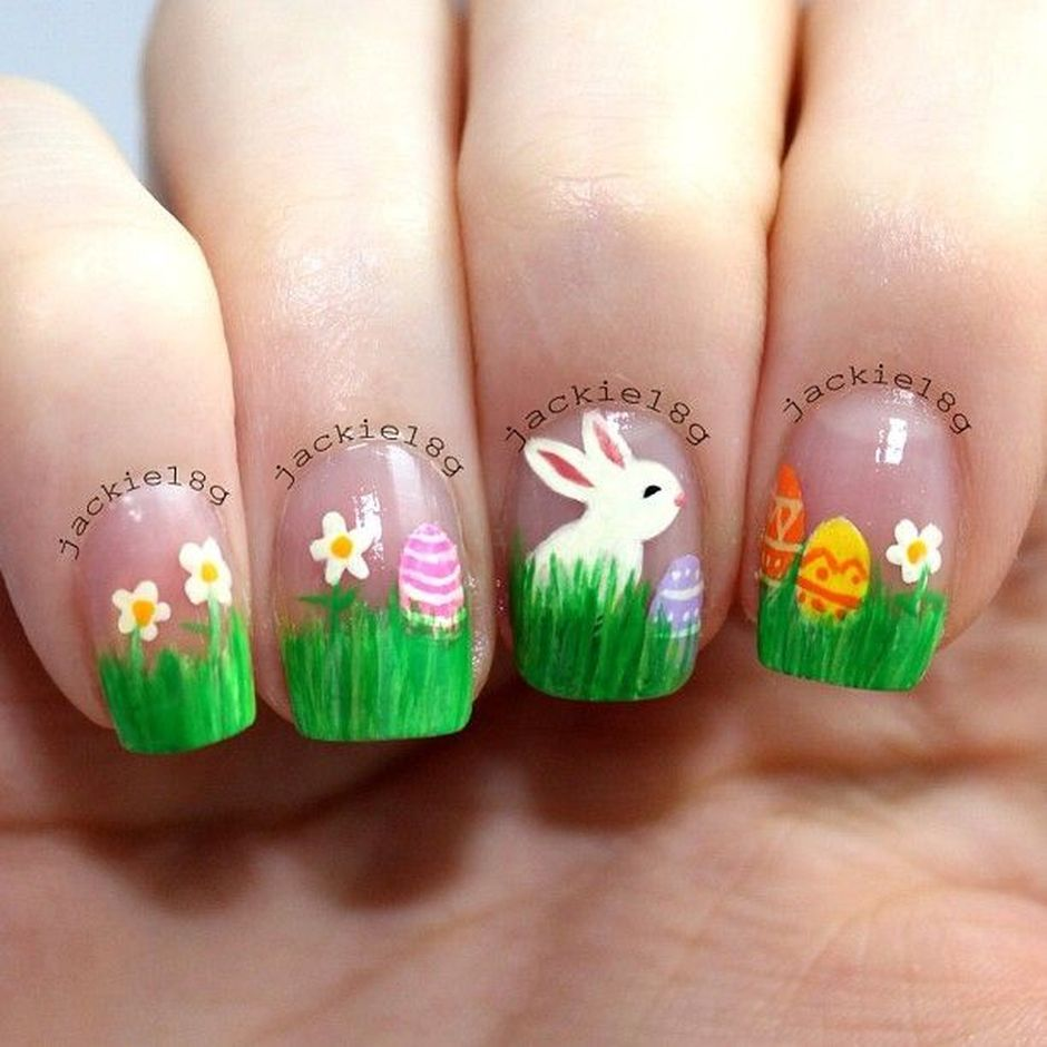 Cute and Easy Easter Nail Art Design Ideas 15