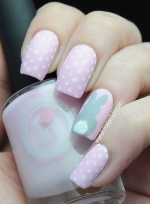 Cute and Easy Easter Nail Art Design Ideas 18